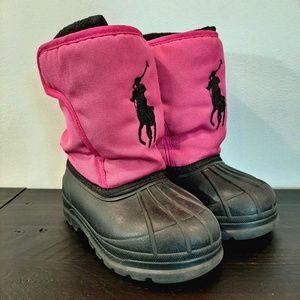 💜 Polo Ralph Lauren Winter Snow Boots Fleece